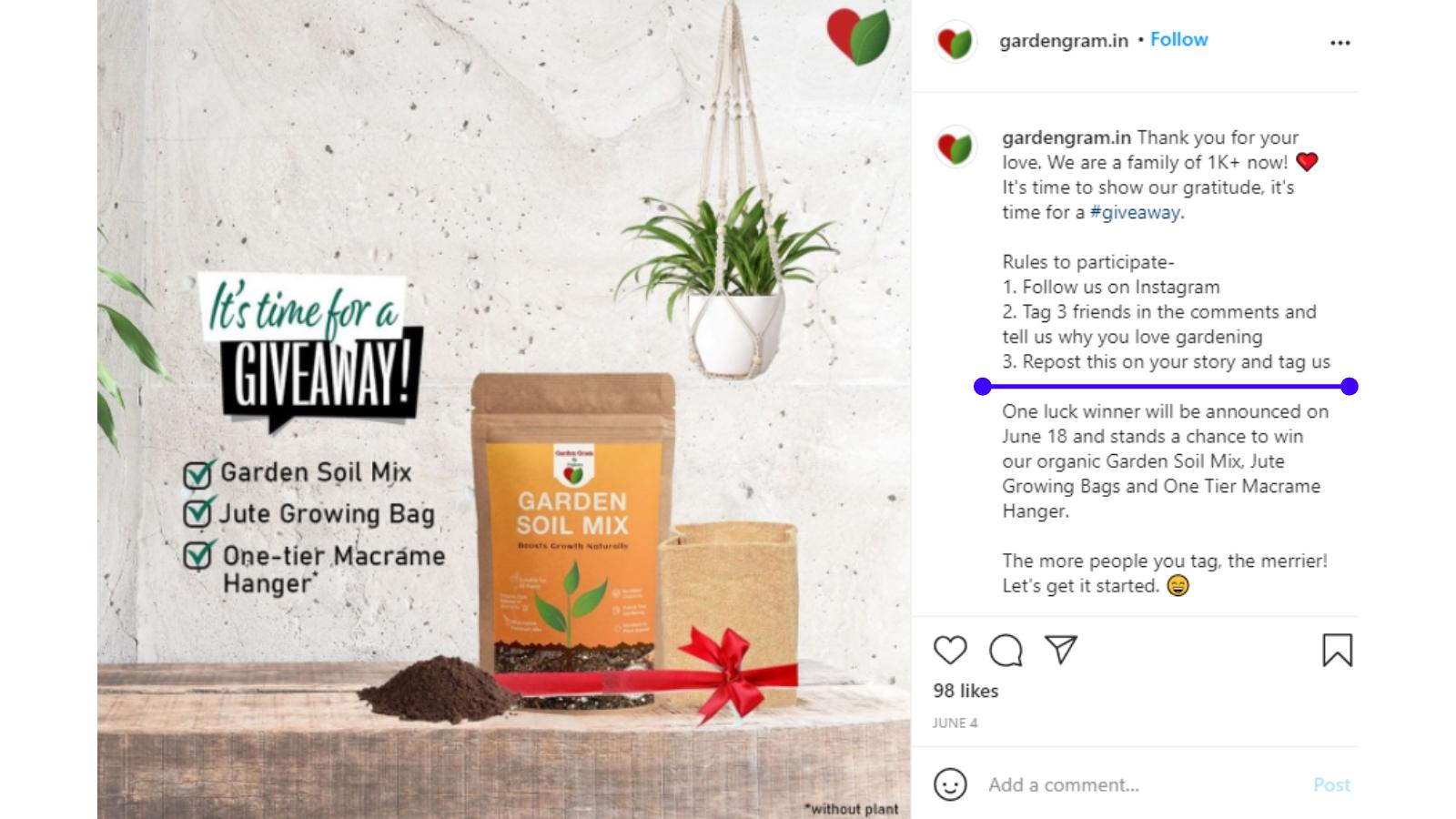 Repost-hashtag-contest